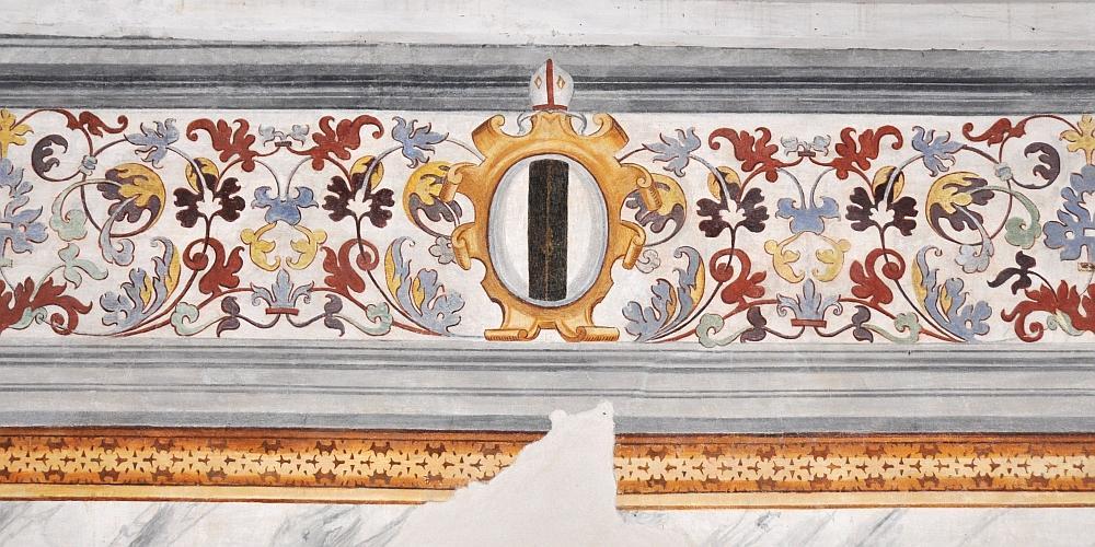 decorazione nella stanza dell'abate