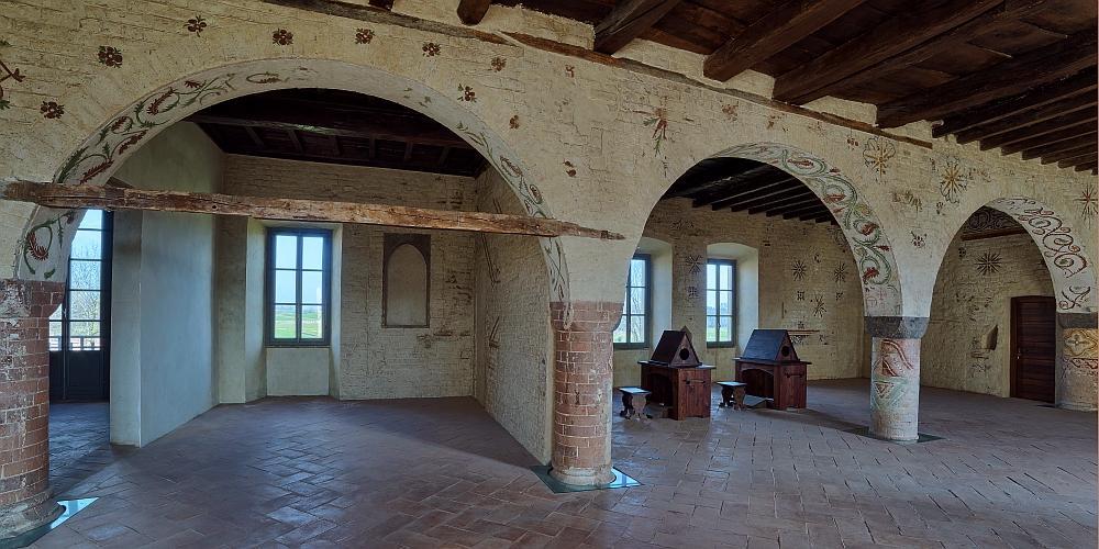 vista d'insieme dello scriptorium
